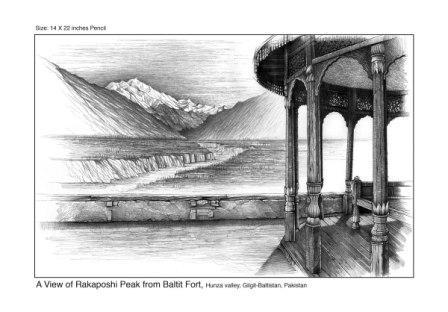 View of Rakaposhi From Baltit Fort