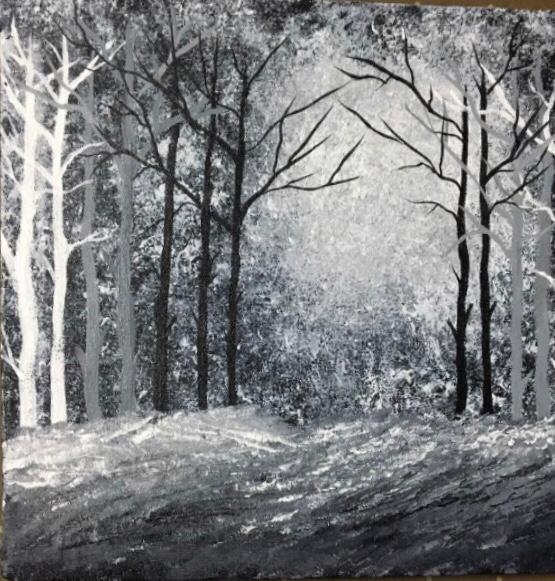 nature acrylic painting